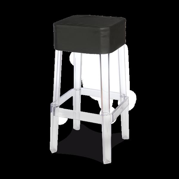 dieeventausstatter Designbarhocker Casper Sitzauflage Kunststoff schwarz