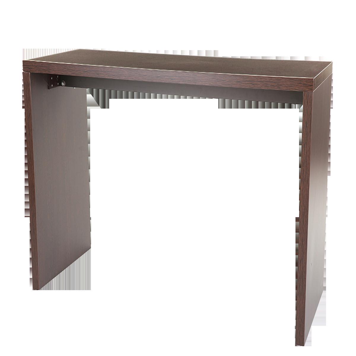dieeventausstatter Brückenstehtisch braun 180x70 cm