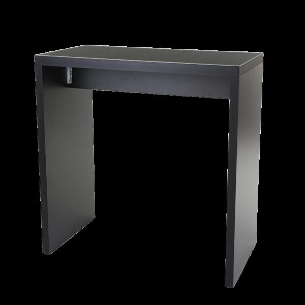 dieeventausstatter Brückenstehtisch schwarz 130x70 cm