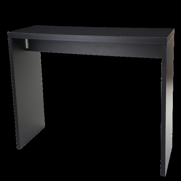 dieeventausstatter Brückenstehtisch schwarz 200x70 cm