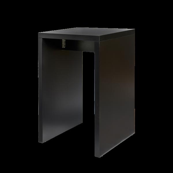 dieeventausstatter Brückenstehtisch schwarz 70x70 cm