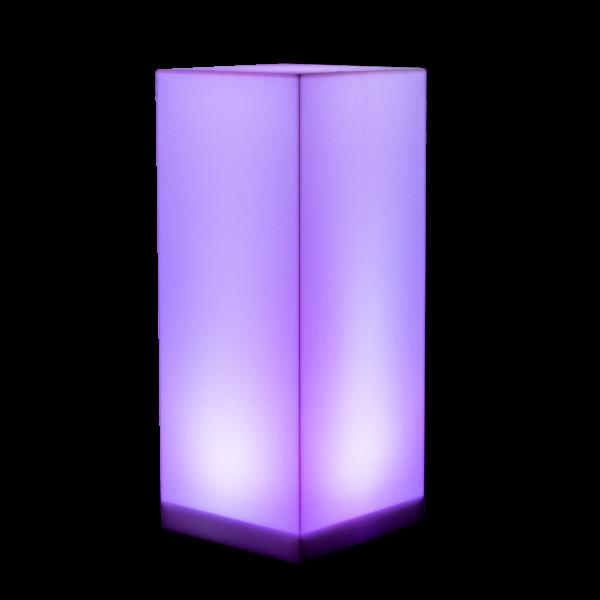 dieeventausstatter LED-Stehtisch Aomolon weiss