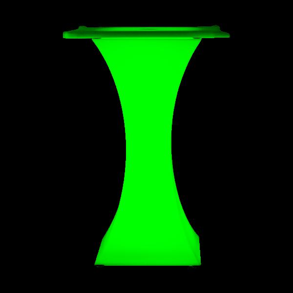 dieeventausstatter LED-Stehtisch Butterfly grün