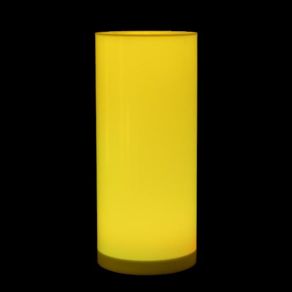 dieeventausstatter LED-Stehtisch Tschuna gelb