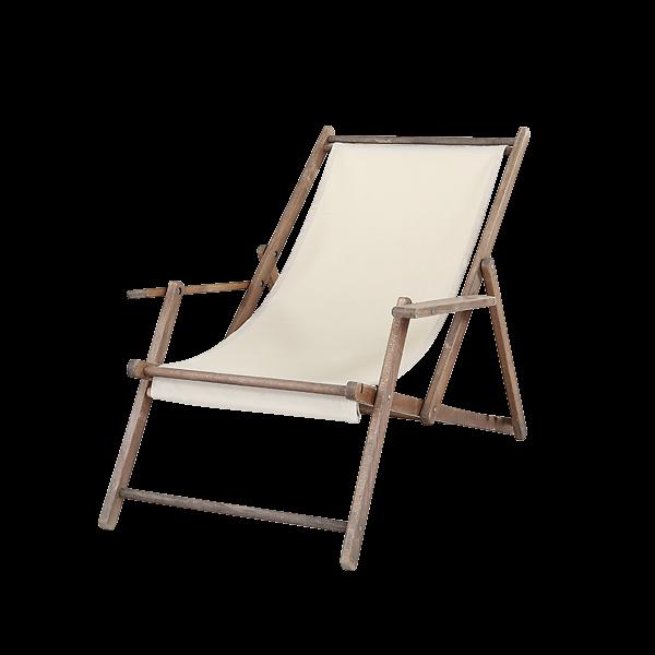 dieeventausstatter Liegestuhl beige Gestell Buche