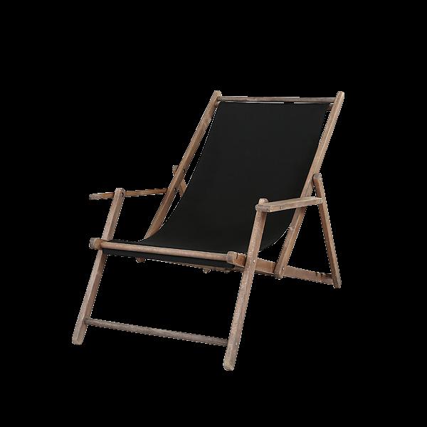 dieeventausstatter Liegestuhl schwarz Gestell Buche