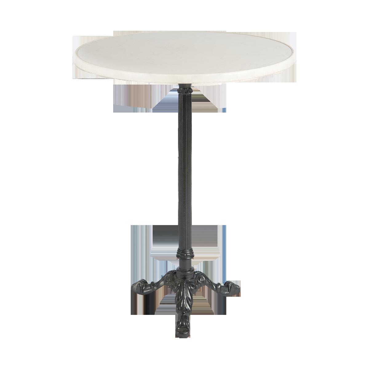 dieeventausstatter Stehtisch Classic Platte marmordekor rund