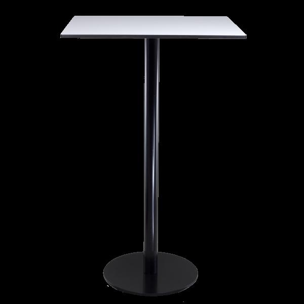 dieeventausstatter Stehtisch Modern black&white Platte outdoor weiss eckig