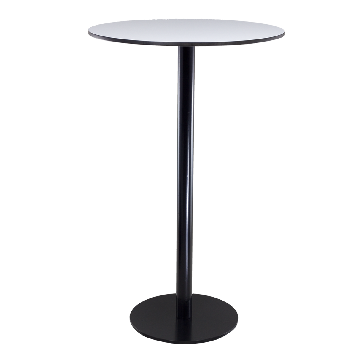 dieeventausstatter Stehtisch Modern black&white Platte outdoor weiss rund