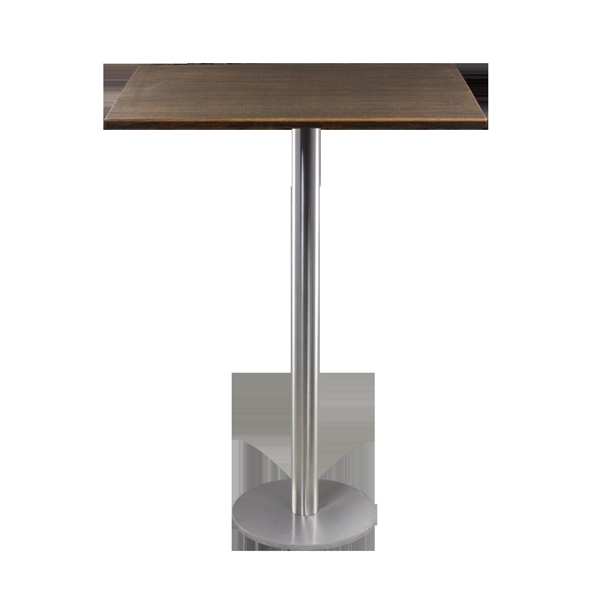 dieeventausstatter Stehtisch Modern Platte Altholz eckig