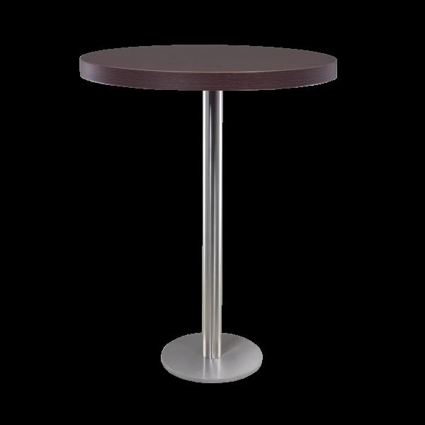 dieeventausstatter Stehtisch Modern Platte braun rund