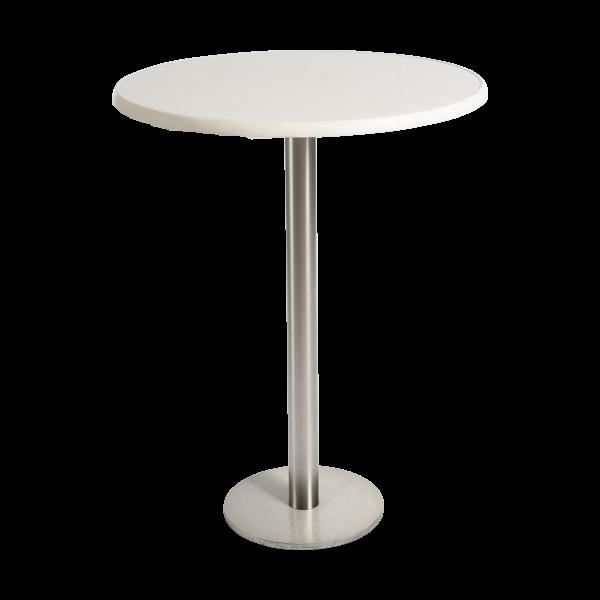 dieeventausstatter Stehtisch Modern Platte marmordekor rund