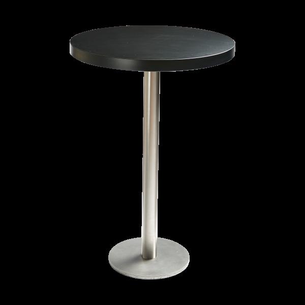 dieeventausstatter Stehtisch Modern Platte schwarz rund