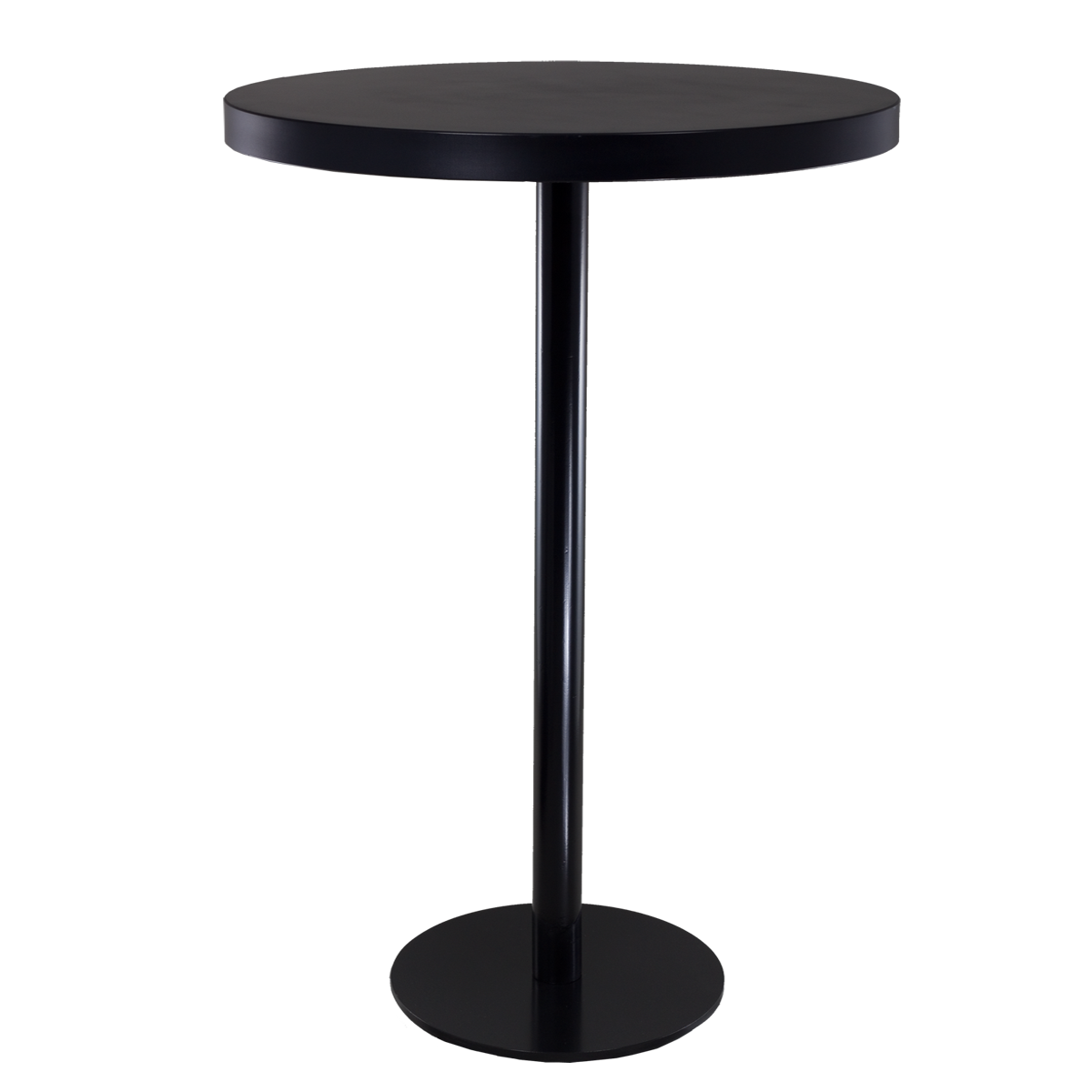 dieeventausstatter Stehtisch Modern black&white Platte schwarz rund