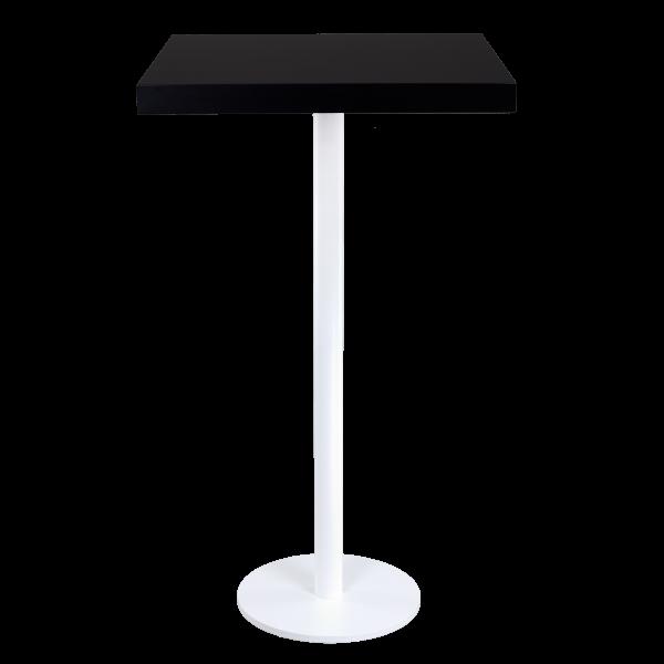 dieeventausstatter Stehtisch Modern black&white Platte schwarz eckig