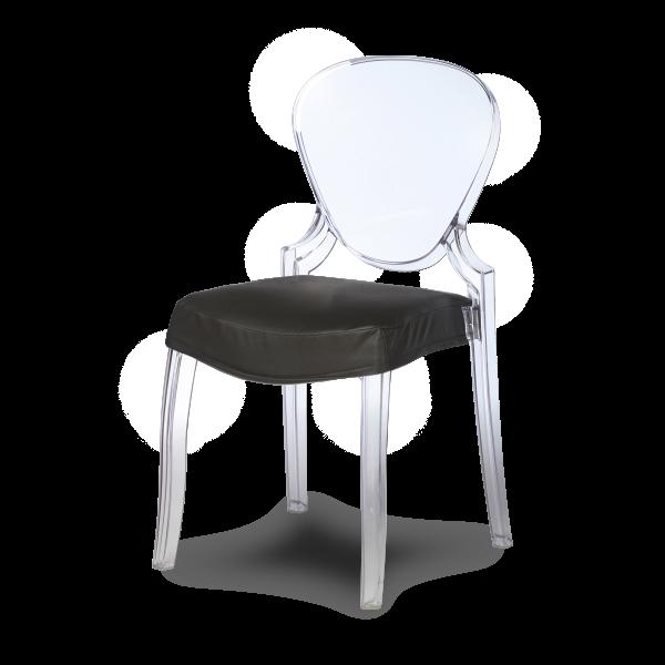 dieeventausstatter Designstuhl Casper Sitzpolster schwarz
