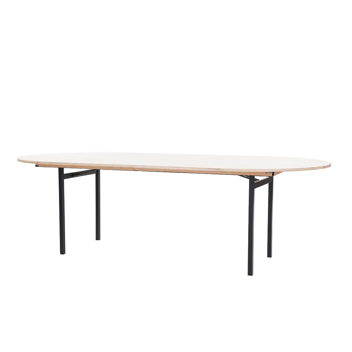 dieeventausstatter Banketttisch oval 120x240 cm
