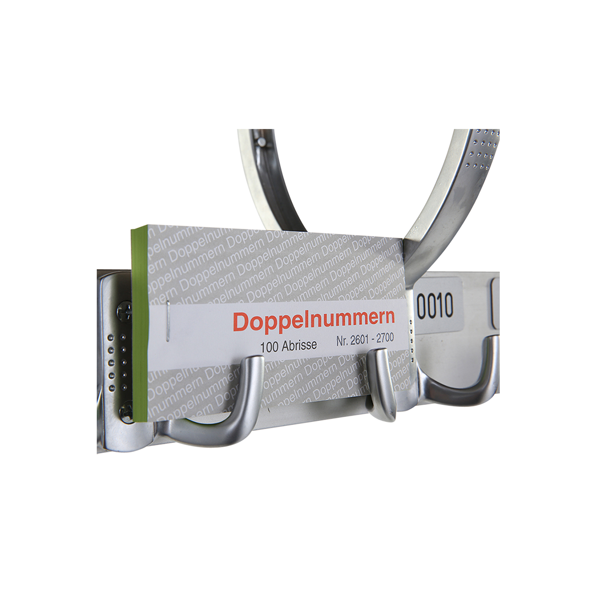 dieeventausstatter Gardrobenmarken Papier 100 Stück auf dem Block