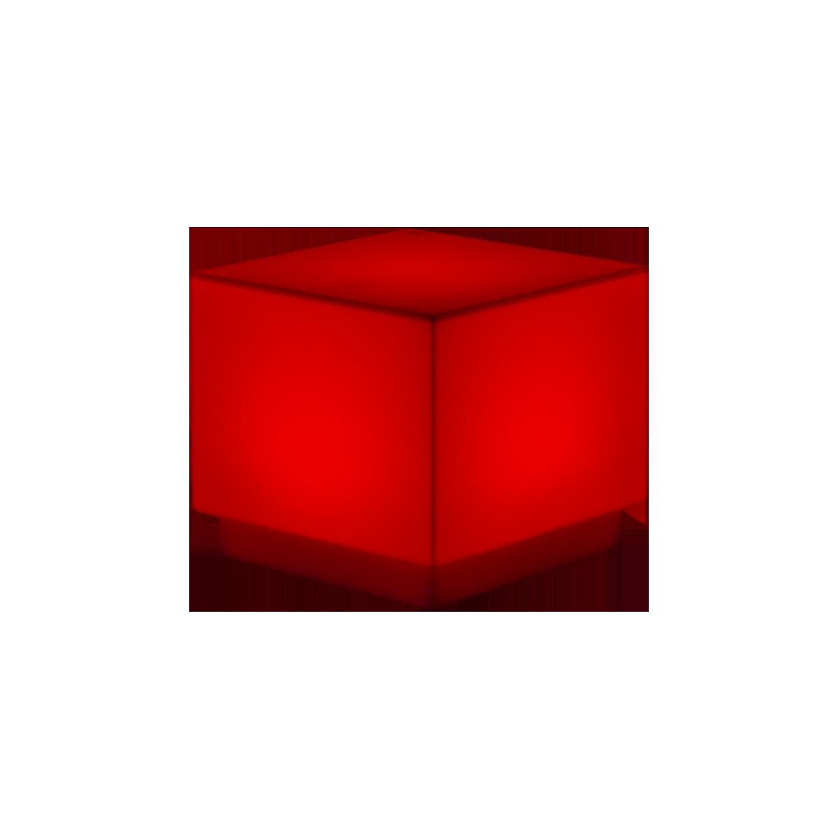 dieeventausstatter LED-Beistelltisch cube rot
