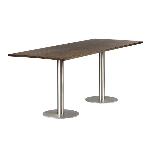 dieeventausstatter Sitztisch Modern Platte Altholz