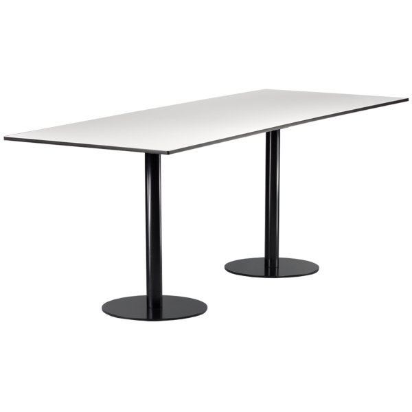 dieeventausstatter Sitztisch Modern black&white outdoor weiss