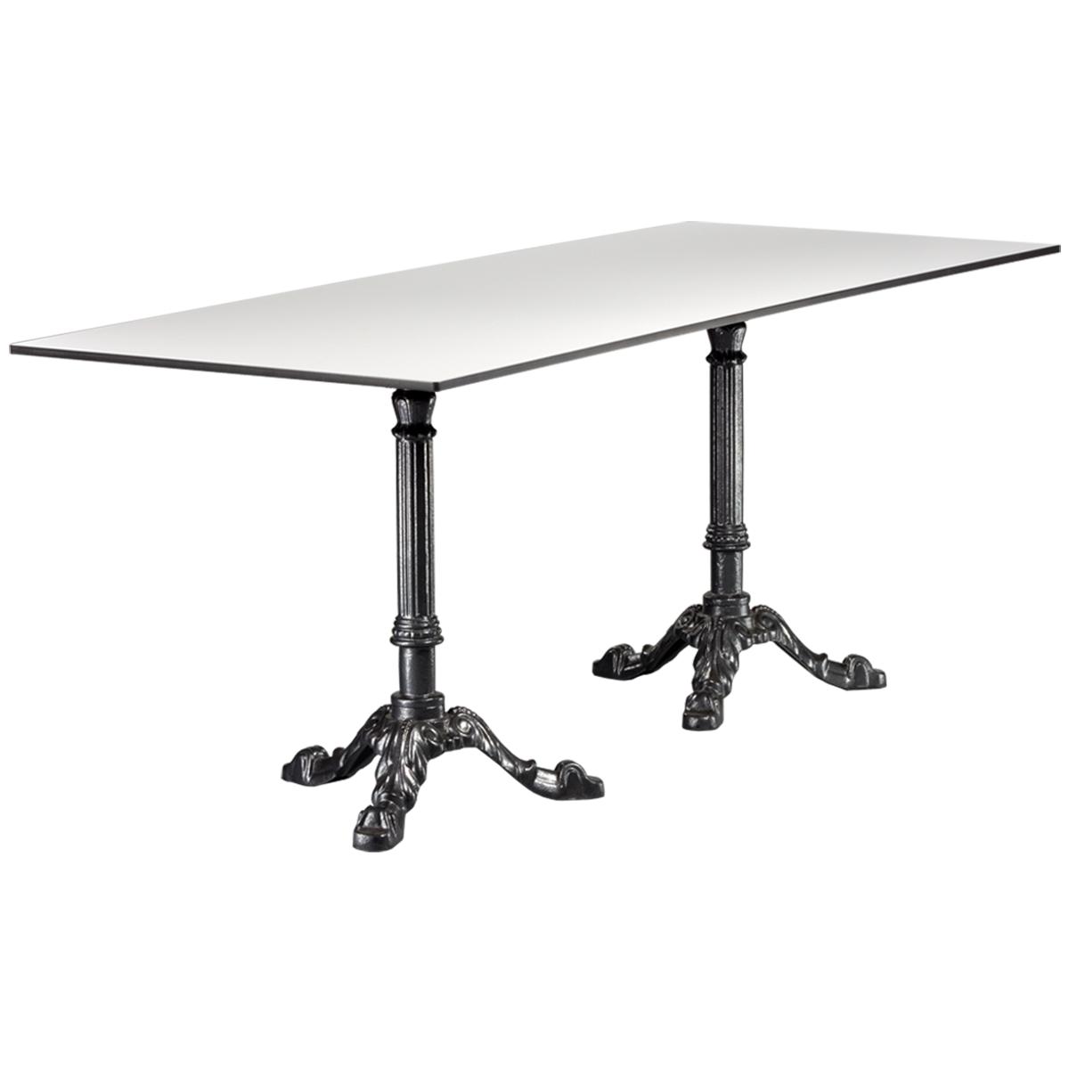 dieeventausstatter Sitztisch Classic Platte outdoor weiss