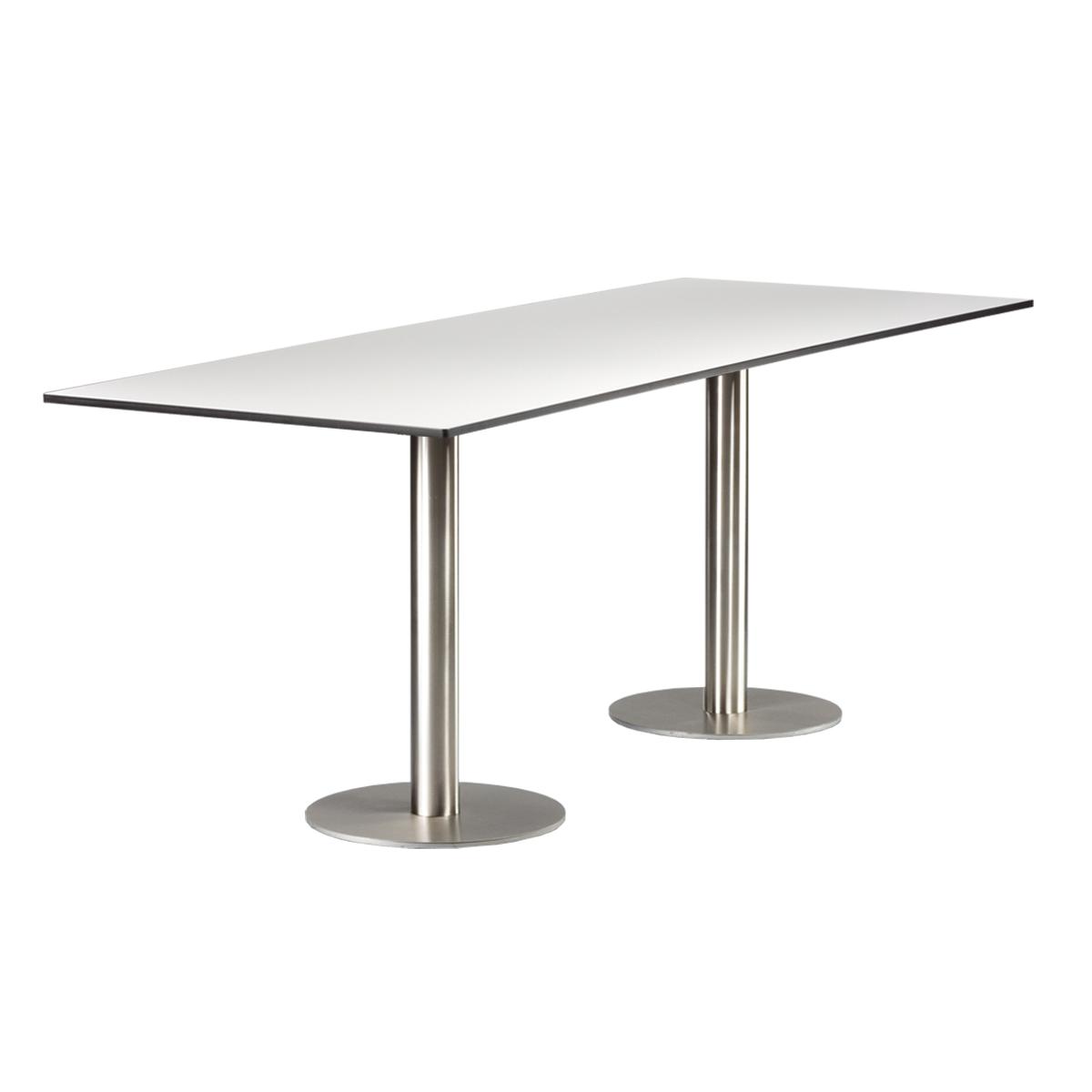 dieeventausstatter Sitztisch Modern Platte outdoor weiss
