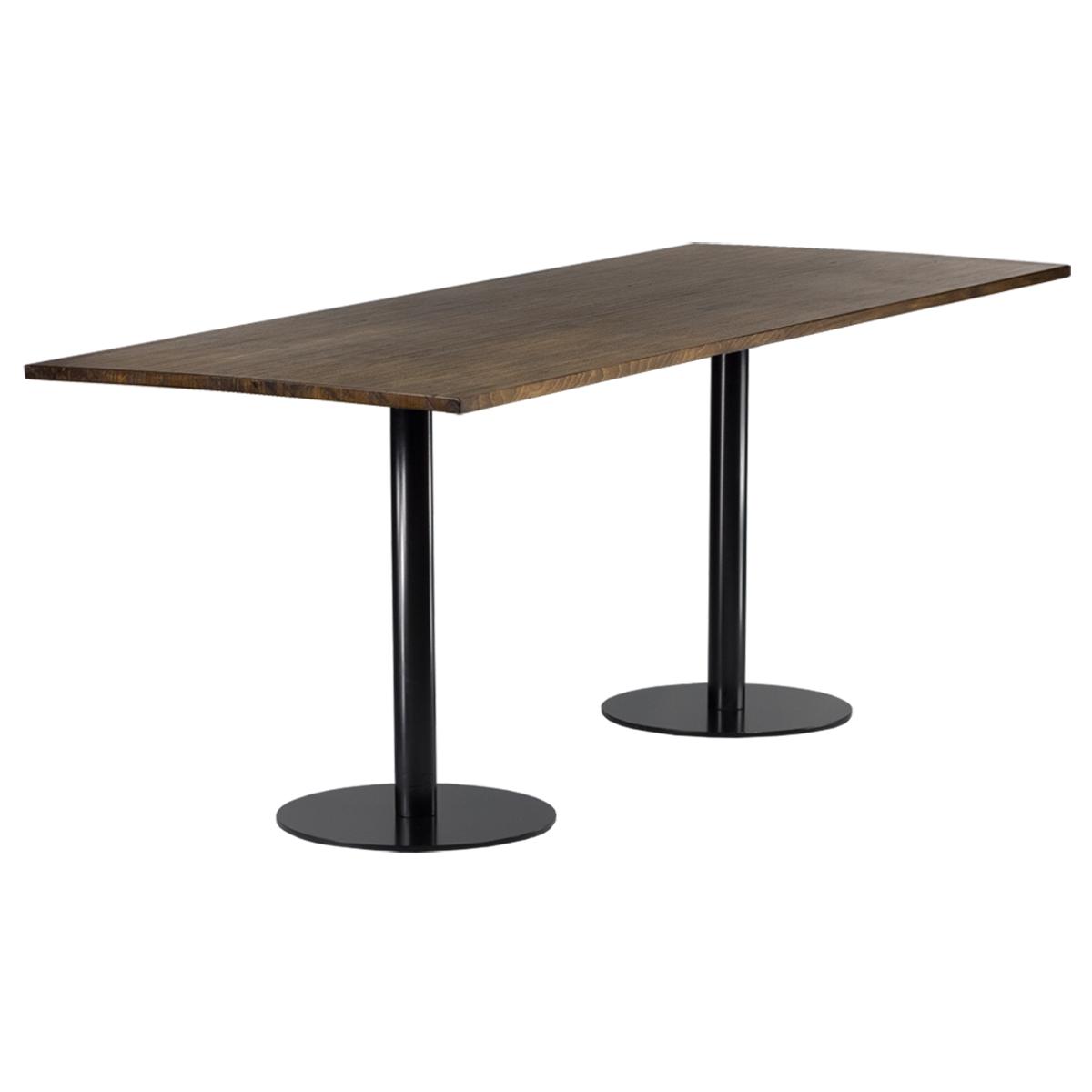 dieeventausstatter Sitztisch Modern black&white altholz