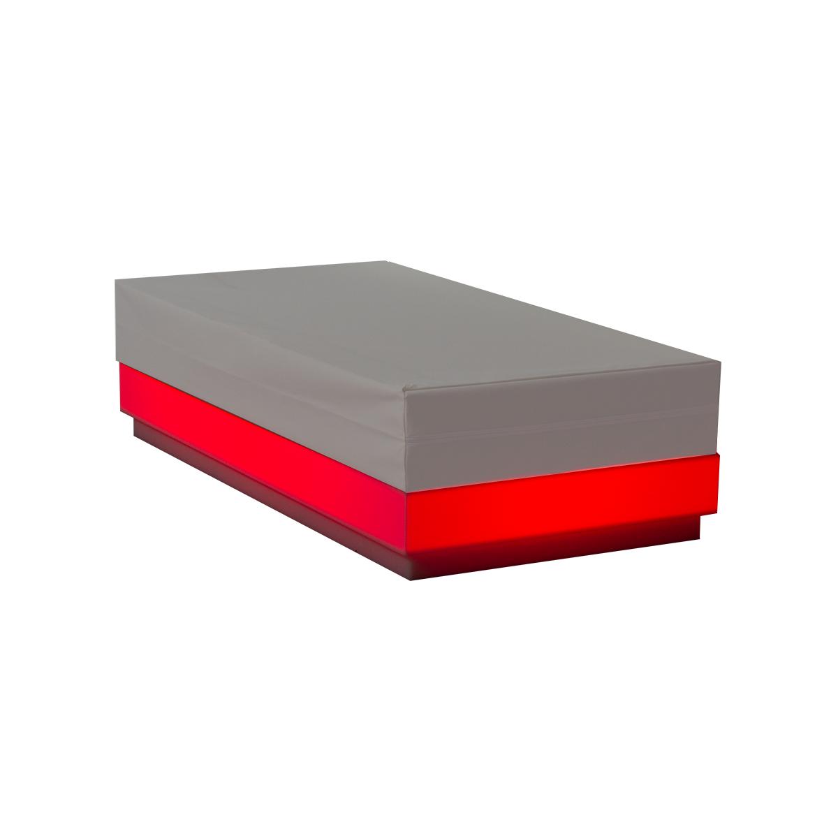 dieeventausstatter LED-Lounge RGB Rechteck rot