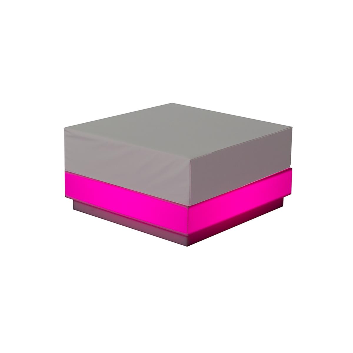 dieeventausstatter LED-Lounge RGB Quadrat pink