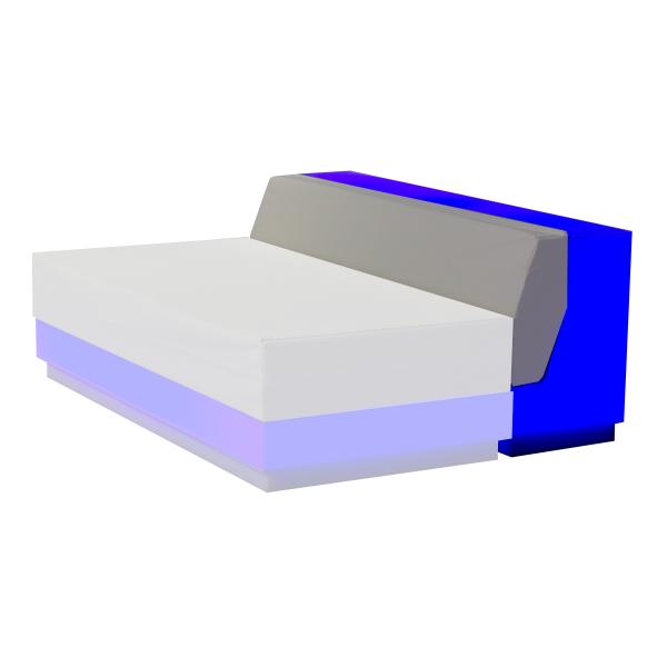 dieeventausstatter LED-Lounge RGB Rückteil blau