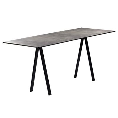 dieeventausstatter Sitztisch Ampere schwarzes Gestell Platte outdoor Betonoptik