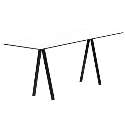 dieeventausstatter Sitztisch Ampere schwarzes Gestell Platte outdoor weiss