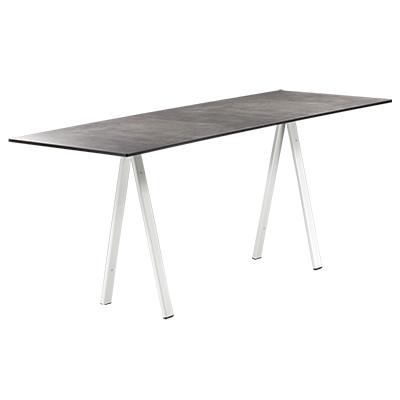 dieeventausstatter Sitztisch Ampere weisses Gestell Platte outdoor Betonoptik