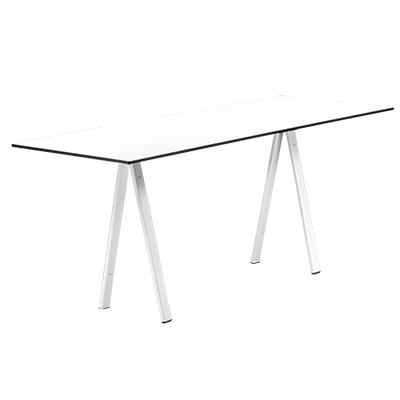 dieeventausstatter Sitztisch Ampere weisses Gestell Platte outdoor weiss