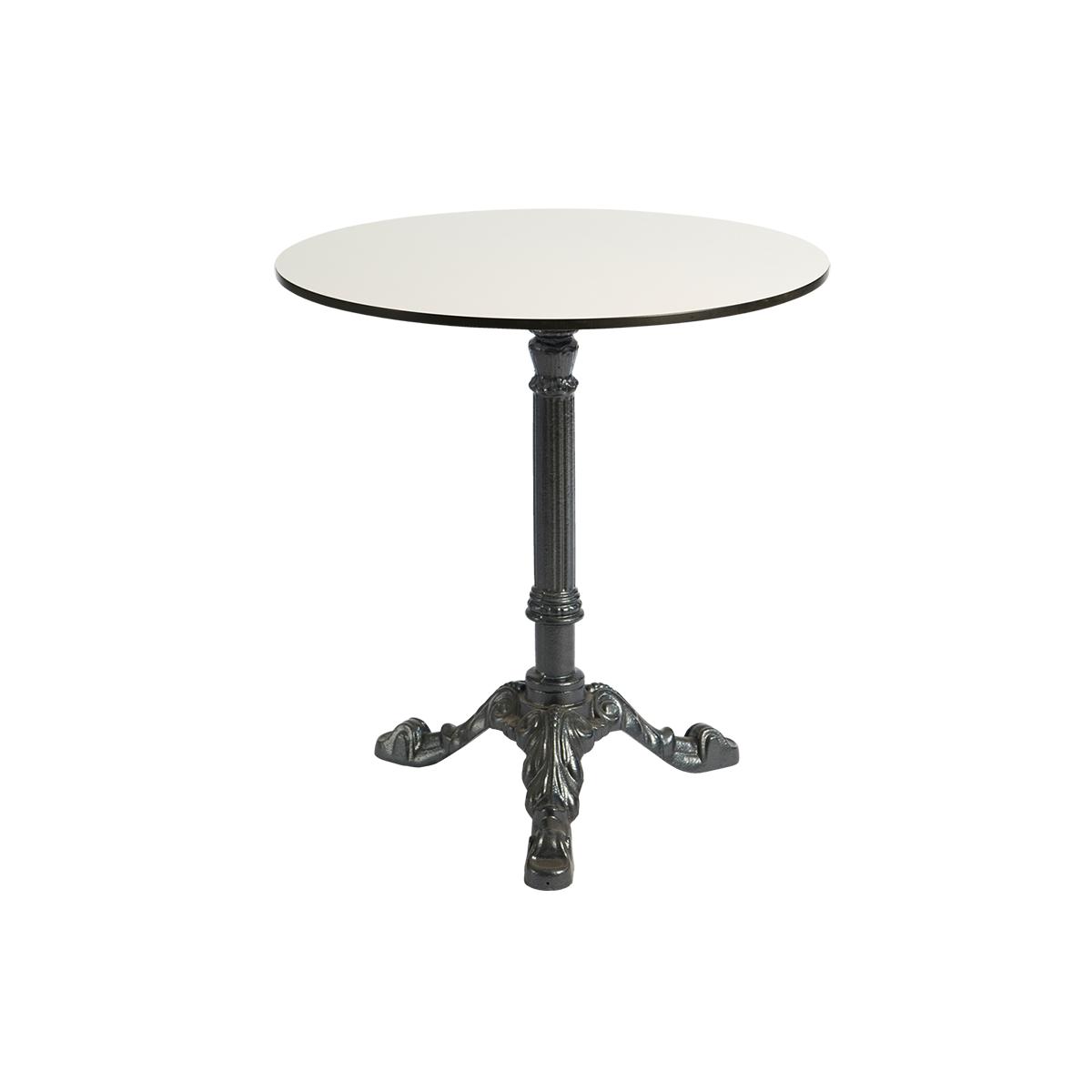 dieeventausstatter Sitztisch Classic Platte outdoor weiss rund