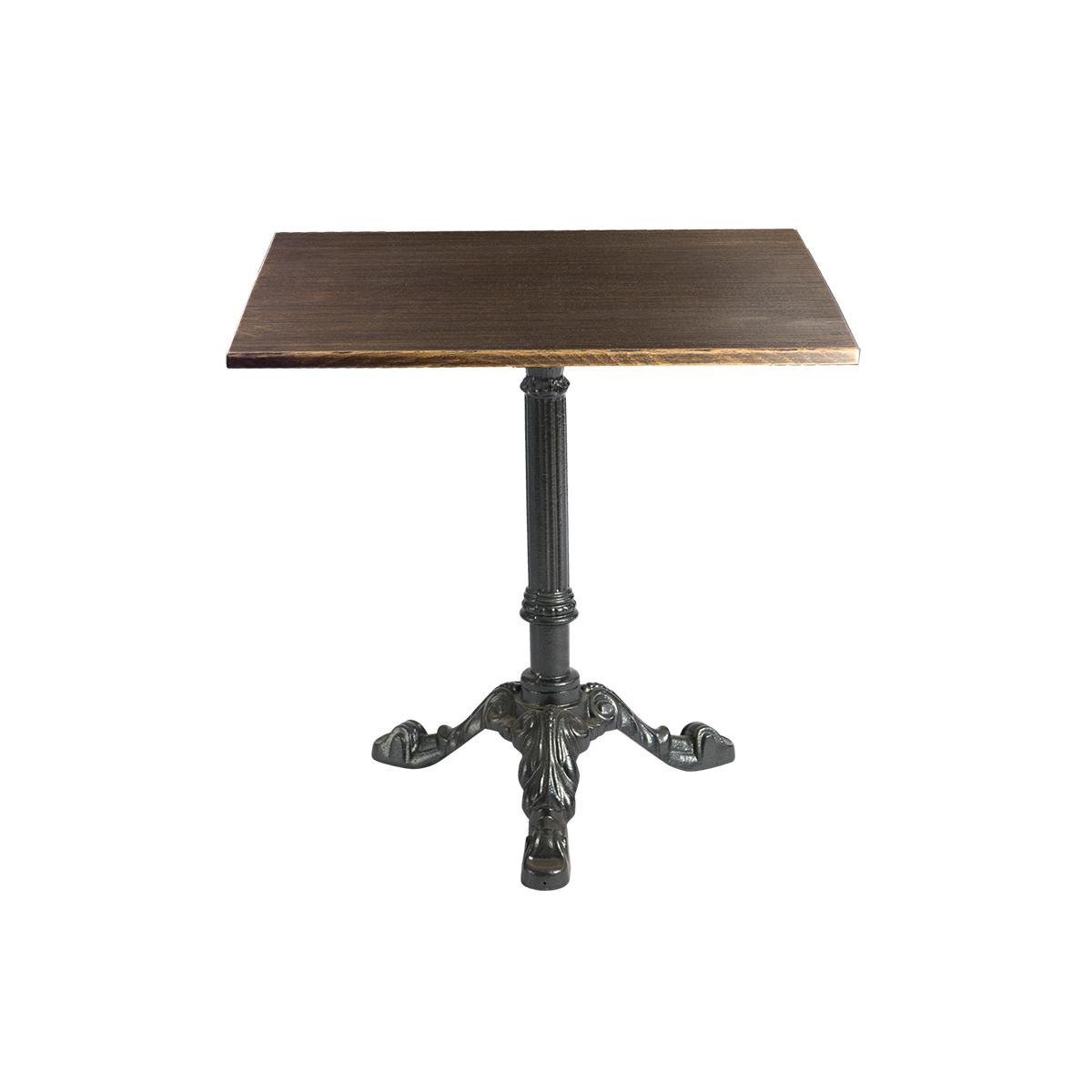 dieeventausstatter Sitztisch Classic Platte Altholz eckig