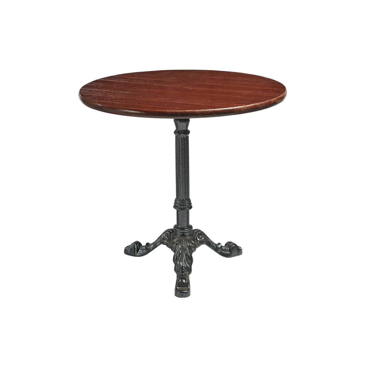dieeventausstatter Sitztisch Classic Platte eiche dunkel rund