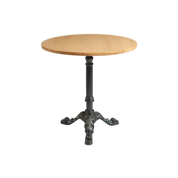 dieeventausstatter Sitztisch Classic Platte kiefer rund