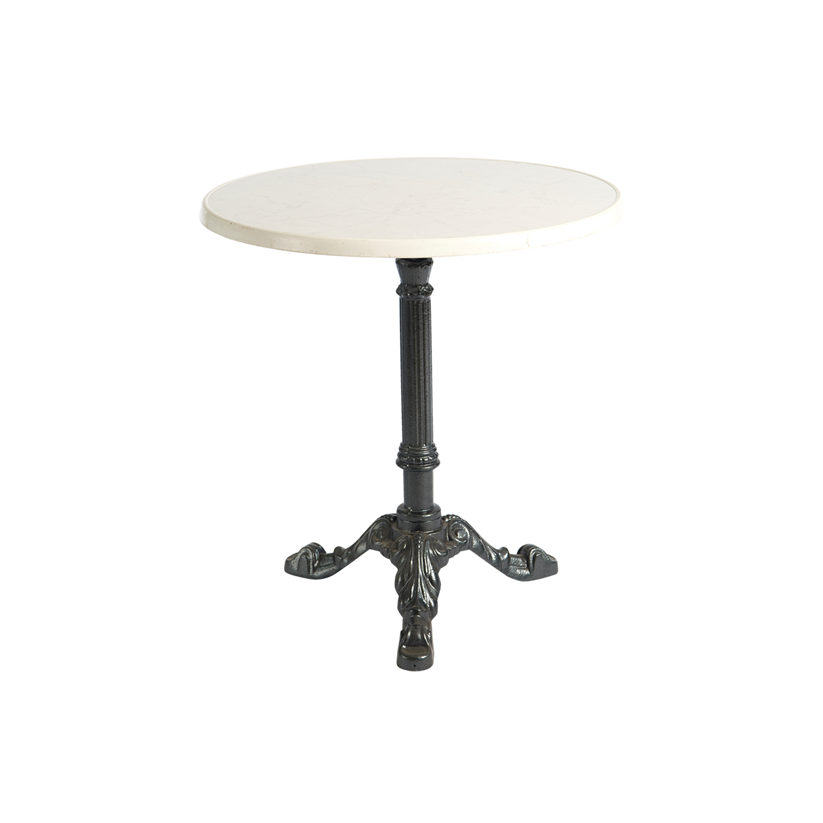 dieeventausstatter Sitztisch Classic Platte marmordekor rund