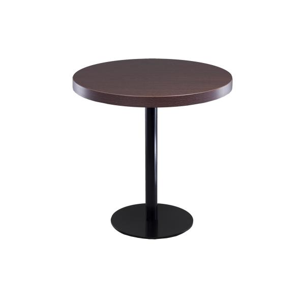 dieeventausstatter Sitztisch Modern black&white Platte braun rund