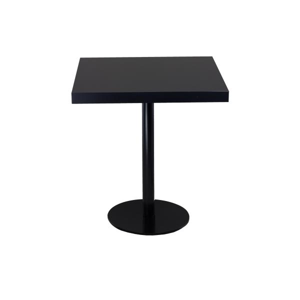 dieeventausstatter Sitztisch Modern black&white Platte schwarz eckig