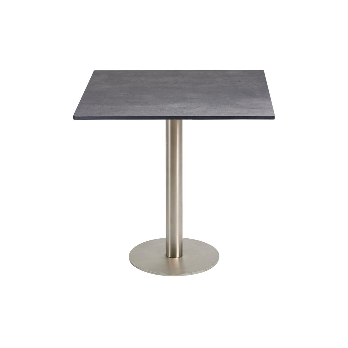 dieeventausstatter Sitztisch Modern Platte outdoor Beton eckig