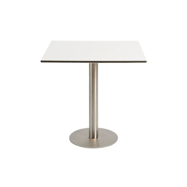dieeventausstatter Sitztisch Modern Platte outdoor weiss eckig