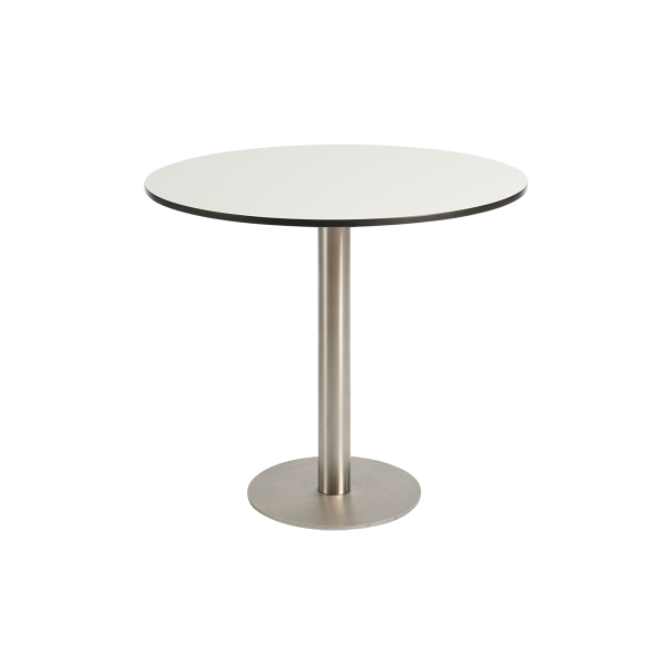 dieeventausstatter Sitztisch Modern Platte outdoor weiss rund