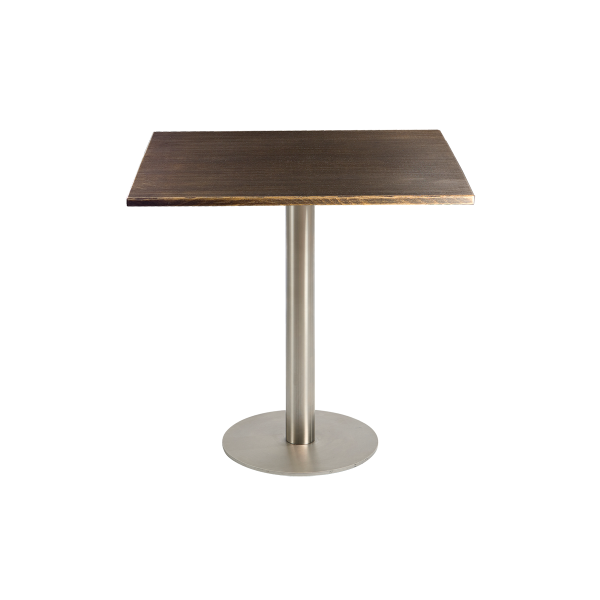 dieeventausstatter Sitztisch Modern Platte Altholz eckig