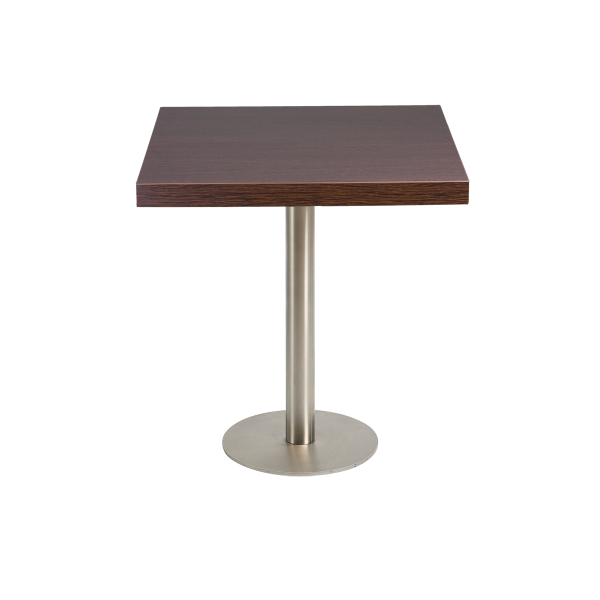 dieeventausstatter Sitztisch Modern Platte braun eckig