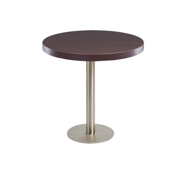 dieeventausstatter Sitztisch Modern Platte braun rund