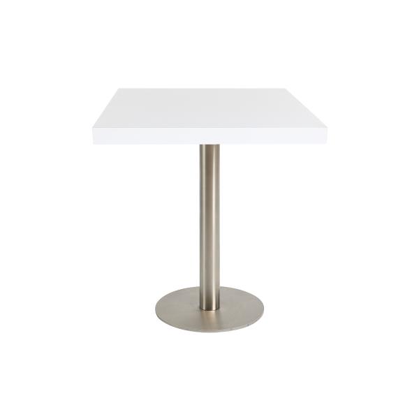 dieeventausstatter Sitztisch Modern Platte weiss eckig