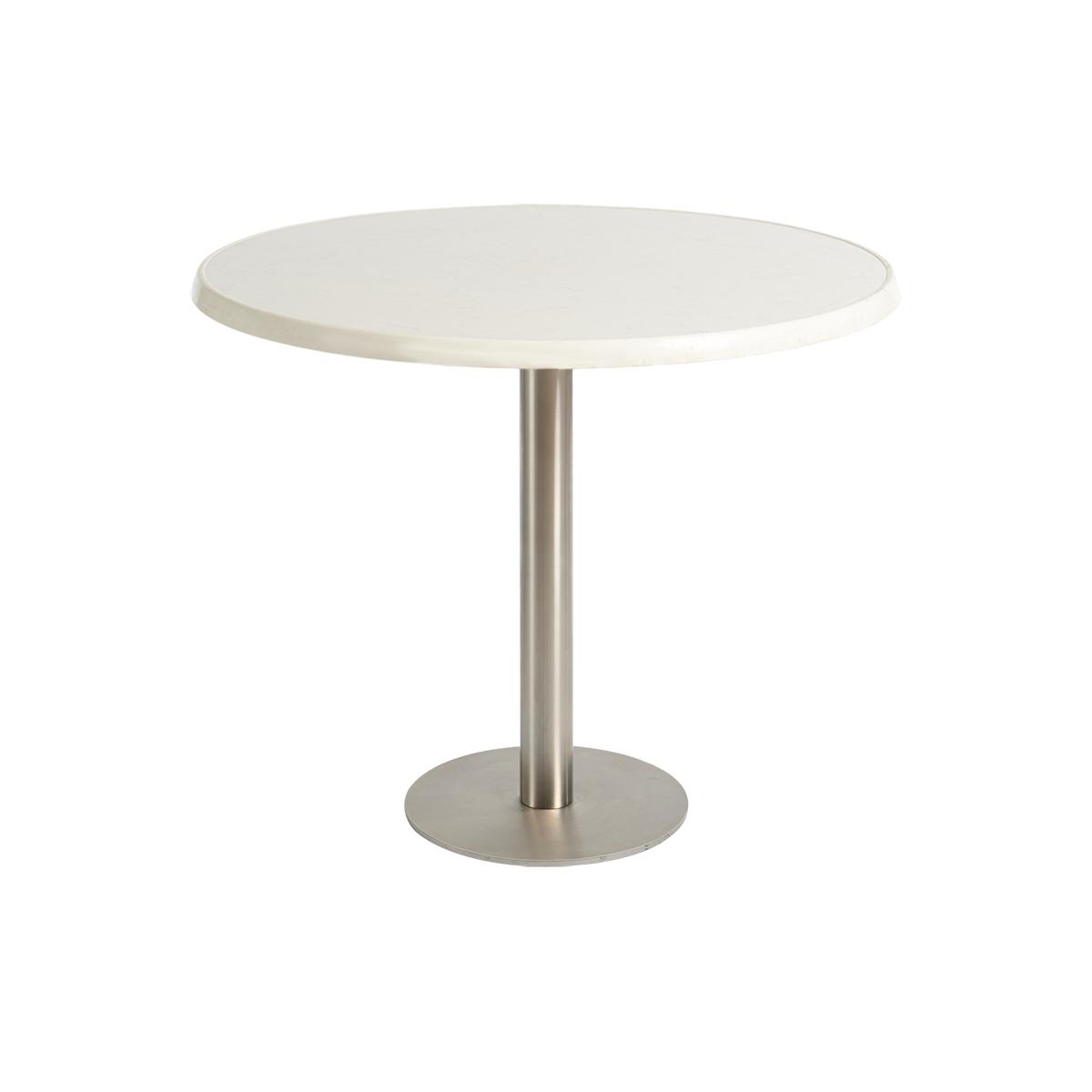 dieeventausstatter Sitztisch Modern Platte marmordekor rund